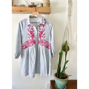 Entro embroidered dress NWOT